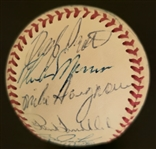 1975 American League All-Star Team Signed AUTO Baseball with Thurman Munson PSA/DNA