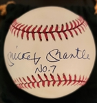 "Mickey Mantle Single Signed AUTO UDA ""No. 7"" AL Baseball Yankees"