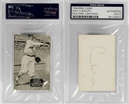 1933-36 Zeenut PCL Wee Willie Ludolph Signed AUTO Baseball Card D.1952 PSA/DNA