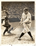 Babe Ruth Original 1943 TYPE I photo – Charity Game with Ted Williams