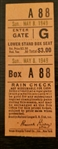 1949 Brooklyn Dodgers vs Cardinals Ticket Stub Gil Hodges HR Jackie Robinson MVP