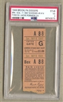 1949 Brooklyn Dodgers vs Cardinals Ticket Stub Gil Hodges HR Jackie Robinson MVP Pop 2
