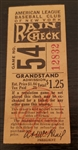 1946 New York Yankees vs. Boston Red Sox Ticket Stub Joe Dimaggio Ted Williams