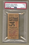 1946 New York Yankees vs. Boston Red Sox Ticket Stub Joe Dimaggio Ted Williams PSA 5 EX Pop 1