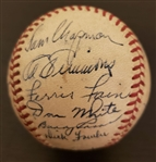 1948 Philadelphia Athletics Team Signed Baseball w/ Al Simmons