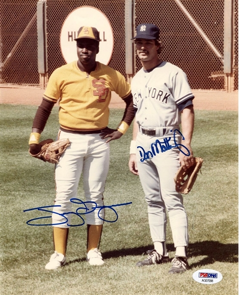 Tony Gwynn (Padres) & Don Mattingly (Yankees)  Signed AUTO 8x10 Color Photo