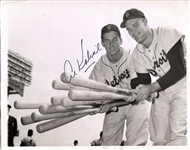 Al Kaline & Harvey Kuenn Tigers Tearing Up the American League Original 1955 TYPE I photo Signed