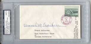 Branch McCracken Basketball HOF Indiana Coach D. 1970 Signed Envelope Postal Cover