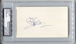 Bob Elson Baseball HOF Broadcaster Signed 3x5 Index Card Cubs White Sox Blackhawks