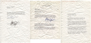 Carl Yastrzemski signed AUTO 1977-80 Boston Red Sox Contract Addendum Collection