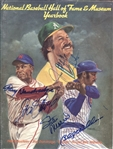 1987 Baseball Hall of Fame Yearbook Signed by 28 Legends JSA LOA
