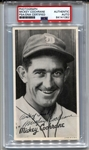 1936 Goudey Premiums Mickey Cochrane Signed AUTO HOF D. 1962 PSA/DNA