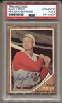 1962 Topps #148 Wally Post Signed AUTO baseball card PSA/DNA D.1982 Reds