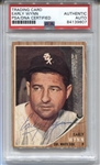 1962 Topps #385 Early Wynn Signed AUTO baseball card PSA/DNA White Sox