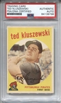 1959 Topps #35 Ted Kluszewski  Signed AUTO baseball card PSA/DNA D.1988 Reds Pirates