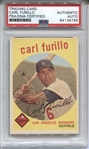 1959 Topps #206 Carl Furillo Signed AUTO baseball card PSA/DNA D.1989 Brooklyn Dodgers