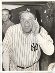 Babe Ruth Original 1943 TYPE I photo in Yankees Uniform at Yankee Stadium