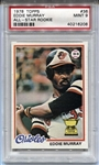 1978 Topps Eddie Murray Baltimore Orioles ROOKIE RC #36 PSA 9 MINT