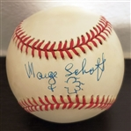 Marge Schott Single Signed ONL Baseball Cincinnati Reds Owner PSA/DNA