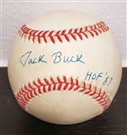 Joe Buck Single Signed ONL Baseball St. Louis Cardinals HOF 87 PSA/DNA