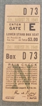 1949 Brooklyn Dodgers vs Chicago Cubs Ticket Stub Jackie Robinson RBI August 26th