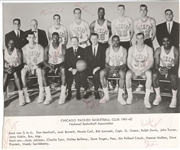 1961-62 Chicago Packers NBA Basketball Team Signed Photo 1 Year NBA Team
