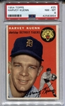 1954 Topps #25 Harvey Kuenn Rookie Tigers PSA 8 NM-MT