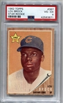 1962 Topps Lou Brock #387 PSA 4 VG-EX Rookie Baseball Card Cardinals Cubs