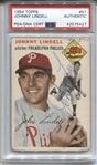 1954 Topps #51 Johnny Lindell Signed Baseball Phillies Yankees PSA/DNA D.1985