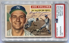 1956 Topps #21 Joe Collins NY Yankees PSA/DNA D.1989