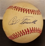 Carl Furillo Single Signed AUTO NL Baseball (Feeney) 1955 Brooklyn Dodgers PSA/DNA
