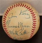 1971 American League All-Star Team Signed Baseball with Thurman Munson PSA/DNA