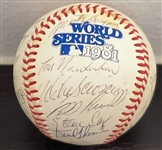 1981 L.A. Dodgers Team Signed Baseball World Series Champions PSA/DNA