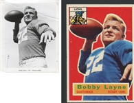 Bobby Layne Original 1950's Detroit Lions Team Issued Photo Used for 1956 Topps Football Card