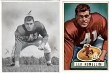 Leo Nomellini 1951 SF 49ers Football HOF TYPE I photo Used for 1951 Bowman Football Card