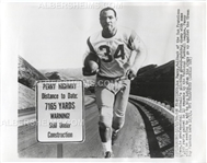 Joe Perry 1959 UPI Photo SF 49ers with Mockup Road Sign Pro Football HOF