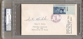 Dana X Bible Signed Postal Envelope College Football Hall Of Fame – Texas D. 1980