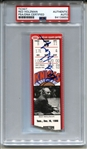 Legendary Knicks Basketball HOF Coach – Red Holzman Signed Knicks Ticket Stub