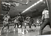 Connie Hawkins defends ball vs Chet Walker Original TYPE I Photo