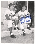 Whitey Herzog Signed TYPE I photo New York Mets with Gil Hodges Baseball HOF