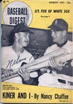 Nellie Nelson Fox signed Baseball Digest Magazine from 1951 PSA/DNA