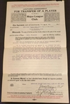 Jacob Ruppert Signed New York Yankees Player Transfer Contract from 1917 JSA LOA