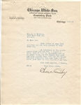 Charles Comiskey Typed Letter Signed from 1915 on White Sox Letterhead D.1931 JSA LOA
