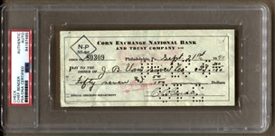 Chief Bender Baseball HOF Signed AUTO Check PSA/DNA D.1954