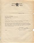 Maurice Podoloff 1949 BAA signed letter - Basketball HOF - Hockey Legend