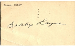 Bobby Layne Signed GPC from 1951 Pro Football Hall of Fame