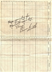 Bruce Smith Heisman Trophy Winner Minnesota D.1967 Signed Medical Document