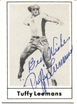 Tuffy Leemans signed 1977 Touchdown Football Card Pro Football HOF NY Giants