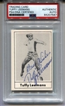 Tuffy Leemans signed 1977 Touchdown Football Card Pro Football HOF NY Giants PSA/DNA