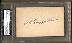 Dazzy Vance Signed 3x5 index card Baseball HOF Yankees St. Louis Cardinals D. 1961